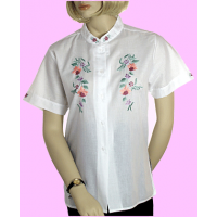 Fine-Cotton Embroidered Blouse