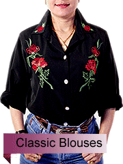 Classic Ladies Blouses with silky polyester fabric