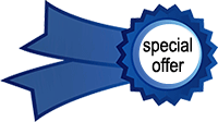 blue badge for special offer or free gift